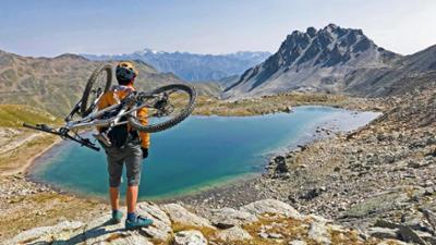 Bergauf-Bergab: Mountainbiken rund um Reschenpass und Stilfserjoch