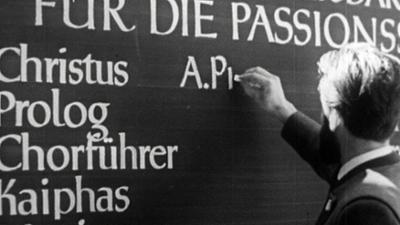 alpha-retro: Spielerwahl in Oberammergau (1959)