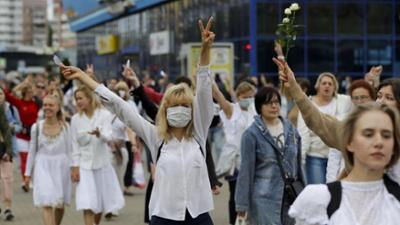 Tagesgespräch: Massendemos nach der Wahl: Was wünschen Sie den Belarussen?