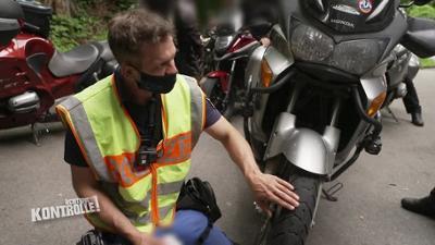 Achtung Kontrolle: Lebensgefährliches Reifenprofil