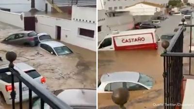 News & Trends: Spanien: Heftige Überflutungen reißen Autos mit sich