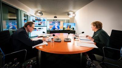 phoenix runde: Corona-Gipfel im Kanzleramt: Deutschland vor dem Kurswechsel?