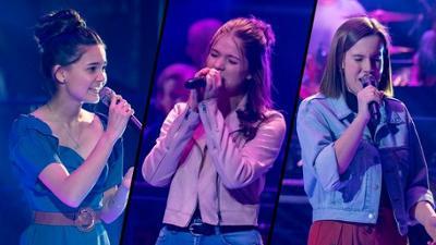 "The Voice Kids: Kirstin vs. Marie vs. Katharina im Battle: ""Beautiful"""