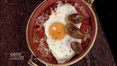 Kaffee oder Tee: Rezept: Reis mit Tomatensoße und Spiegelei